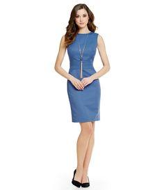 Antonio Melani Quinn Dot Jacquard Sleeveless Sheath Dress