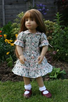 Frilly Layered Frock for Kidz n Cats doll by WellyBs on Etsy, £5.00