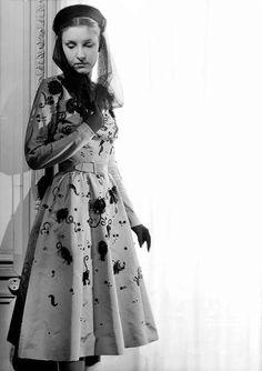 1950, Model wearing Balenciaga..