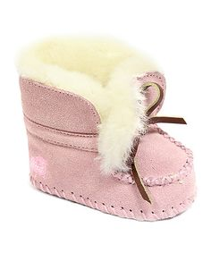 Another great find on #zulily! Pink Suede Moccasin Bootie #zulilyfinds