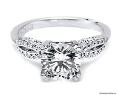 traditional white diaond engagement ring - My Engagement Ring