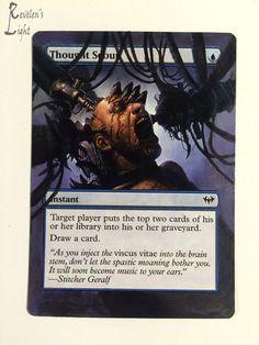 Thought Scour - Full Art - MTG Alter - Revelen's Light Altered Art Magic Card