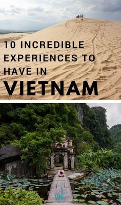 Planning a #trip to the beautiful, crazy country of Vietnam soon? Magical Fairy Streams, breathtaking views, mysterious temples and pagodas, wondrous caves, and more. Check out my list of the top 10 incredible #experiences to have in #Vietnam! | #ThingsToDo #SEA #Travel