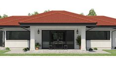 Wide selection of House Plans from Top Architects. House Layout Plans, My House Plans, House Layouts, House Floor Plans, Modern Lake House, Small Modern Home, Modern Houses, Home Design Floor Plans, Dream Home Design