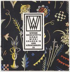 ¤ Wiener Werkstätte Catalog, 1923. ViaWolfsonian
