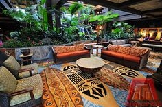 Disney's Polynesian Resort Lobby!! One of my favorite Deluxe's!! It is on the Monorail!!