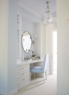 dressing area | More boudoir lusciousness at http://mylusciouslife.com/walk-in-wardrobes-closets-dressing-rooms-boudoirs/