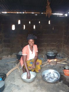 A kitchen in The Gambia
