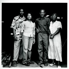 Lonnie Holley, LOUSIANNA P. BENDOLPH, (Gees Bend, Alabama)  Thornton Dial and MARY LEE BENDOLPH (Gees Bend, Alabama)  |    Dial and Holley were both raised by women and have made women and women's roles in African American life a central theme of their art.  (July 18, 2006. Photo:Matt Arnett.)