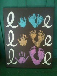 Baby's 1st handprint & footprint