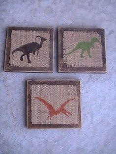 Craft Critters: Burlap Dinosaur Plaques