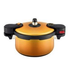 NEW KitchenFlower EcoCook Ceramic Pressure Cooker Yellow 3.5L