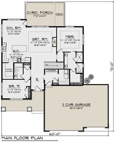 Craftsman Plan: 1736 Square Feet 2 Bedrooms 2 Bathrooms - Great floor if floor created. Exterior appeal is terrible 2 Bedroom House Plans, Garage House Plans, Best House Plans, Small House Plans, House Floor Plans, The Plan, How To Plan, Bathroom Floor Plans, Bathroom Flooring