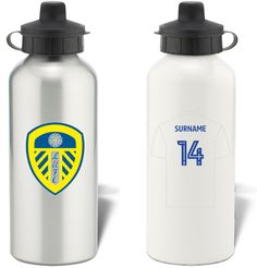 Keep yourself hydrated in style with your own personalised Leeds United FC water bottle.