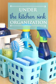 My under the kitchen sink organization was quick and inexpensive. I don't know what took me so long. Come check out my dollar store finds!