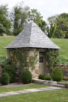 Stone garden shed by AJF Design