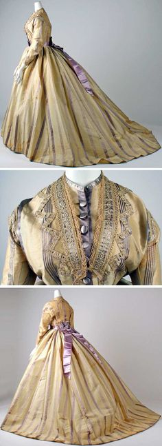 Mme. Marguerite, Paris, ca. 1865. Silk and wool. Metropolitan Museum of Art