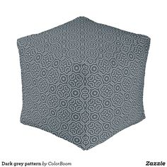 Dark grey pattern pouf Grey Home Decor, Grey Cushions, Grey Pattern, Decorative Cushions, Party Hats, Dark Grey, Make Your Own, Color, Colour