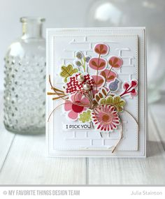 Fall Florals, Harvest Mouse, Brick Wall Cover-Up Die-namics, Fall Florals Die-namics - Julia Stainton  #mftstamps