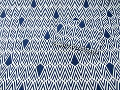 """""""Deco in Night Blue"""" geometric repeat pattern by Sarah Waterhouse (hand printed sustainable fabrics)"""
