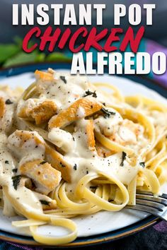 This Instant Pot Chicken Alfredo is a game changer! It's a super simple and quick recipe that puts everything into the Instant Pot and turns out tender chicken and flavorful sauce. Move over, Olive Garden, the Instant Pot is in town. :) #pasta #italianstyle #italian #italianfood #noodles #parmesan #dinnertime #dinner #dinnerrecipes #winner #instantpot #recipeideas #recipeoftheday #recipeoftheweek #recipes_to_go #quickandeasy #garlic