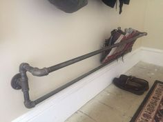 Organizer Iron pipe wall mounted shoe rack steampunk Your Guide to Bathroom Planning and Design This Wall Shoe Rack, Wall Mounted Shoe Rack, Diy Shoe Rack, Wall Shoe Storage, Shoe Wall, Pvc Shoe Racks, Metal Shoe Rack, Industrial Shoe Rack, Diy Regal