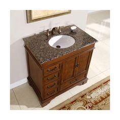 Foremost Fmnaca3621d Naples 36 Inch Bath Vanity Cabinet Only Warm Cinnamon Bathroom Vanities Remodeling Ideas