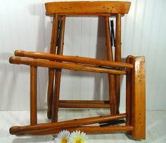 Rustic Wooden Set of 2 SuitCase Stools  Vintage by DivineOrders, $95.00