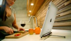 Unlike most stands, the Joule won't tip over when using the iPad's touch screen, allowing you to better utilize your iPad in the kitchen. Ipad Kitchen Stand, Cooking Websites, Ipad Holder, Ipad Stand, Home Repairs, Joules, Apple Products, Patio Design, Tech Gadgets