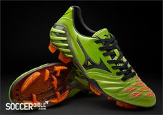 Mizuno Wave Ignitus II - Green/Black/Orange - Holy smokes. A good lookin' boot.