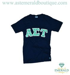 Take on the new year with the Mint Anchor Navy V-Neck!  Alpha Sigma Tau Emerald Boutique has you covered!