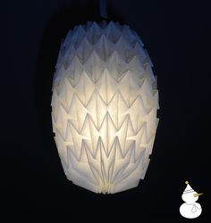 origami paper shade