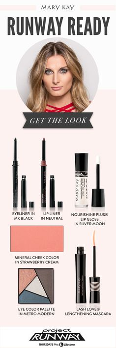 Creating a smoky eye has never been easier with Mary Kay® Eye Color Palettes! Create a sultry gaze with Metro Modern and eyeliner in MK Black! Keep the focus on your eyes with a glossy neutral lip using NouriShine Plus® Lip Gloss in Silver Moon.   Mary Kay