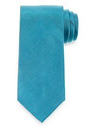 Textured Solid Woven Silk Tie from Paul Fredrick | Paul Fredrick