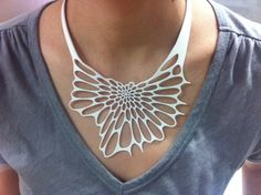 Radiolaria Necklace by Nervous System - jewelry inspired by natural forms and created using techniques like 3D printing.
