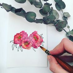 Hello friends ❤️ Today is my last day of my holiday and also the first day I have the change to draw and paint. So I will give you an oldie but goldie today! Hope you (still) like my peonies, I am getting back to my drawings 🥰 Take care and lots of love, Pia x . . . .  #botanicalinspiration #botanicalartlovers  #illustrationow  #botanical_art #floralartwork #comefloralwithus #dspattern #looseflorals #watercolorflorals #watercolordaily #creativelifehappylife #floralarthub… Floral Watercolor, Watercolor Paintings, Bloom Book, I Am Feeling Good, Art Hub, My Last Day, Floral Artwork, Botanical Art, Weekend Is Over
