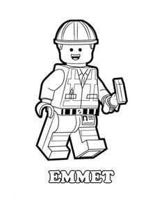 Emmet Is A Construction Worker Lego Minifigure He Will Fight To Defend The Universe Have Fun Coloring This Amazing Movie Picture