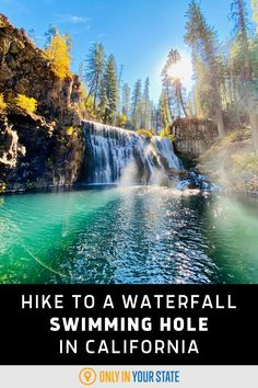 Take a beautiful riverfront hike to a natural waterfall swimming hole in Northern California! It's the perfect pool for summer fun! Summer Travel, Summer Fun, Best Bucket List, Natural Waterfalls, Famous Beaches, Hidden Beach, Swimming Holes, Northern California, State Parks