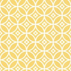 Daisy Chain Small  (LF1013) - Layla Faye Wallpapers - An all over wallpaper design featuring a small scale, floral tile design. Shown here in the yellow mellow colourway. Other colourways are available. Please request a sample for a true colour match. Paste-the-wall product.