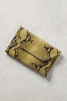 Anthropologie | Oliveve Avocado Cleo Envelope Clutch | Green | Fashion | Accessories | Purses