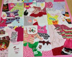 Items similar to Memory Quilt / First Year Quilt / 1st Year Blanket / Baby Clothes Quilt / Custom Made / on Etsy