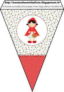 Montando a minha festa: Chapeuzinho vermelho Shabby Chic