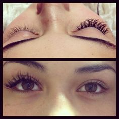 Before and after individual eyelash extensions By Jandy Taylor