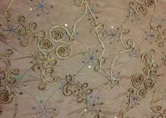 Gold,Taffeta,Embroidery,Ribbon,Sequin,fabric