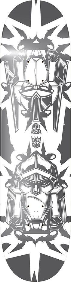 Megatron vs. Optimus Prime Skate Deck