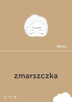 Zmarszczka #CardFly #flience #human #polish #education #flashcard #language