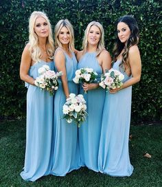 Bridesmaid dresses. Opt for a best suited bridesmaid dress for the wedding. You need to look at the dresses that would flatter your bridesmaids, simultaneously, match your wedding ceremony style.