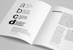 Minimalistic Font Specimen – Pragmatica on Behance