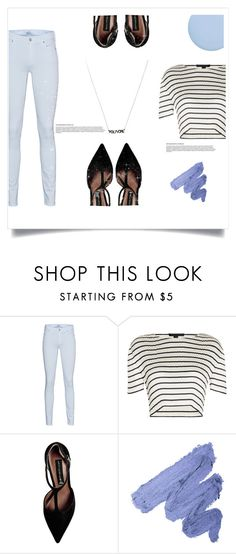 """""""cool in stripes"""" by moonlightprinces ❤ liked on Polyvore featuring 7 For All Mankind, Alexander Wang, Steve Madden, Deborah Lippmann, contestentry, polyfriends and styleinsider"""