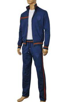 Mens Designer Clothes   GUCCI Men's Zip Up Tracksuit #104; $199.99